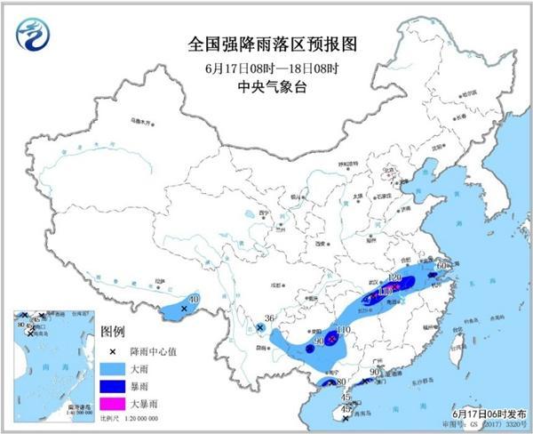 暴雨蓝色预警!湖北安徽等5省区局部有大暴雨