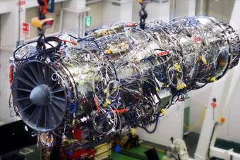 日本高调展示五代机用发动机 性能媲美F-22航发