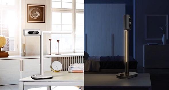 Lumi智能投影台灯自带系统 支持红外触摸交互