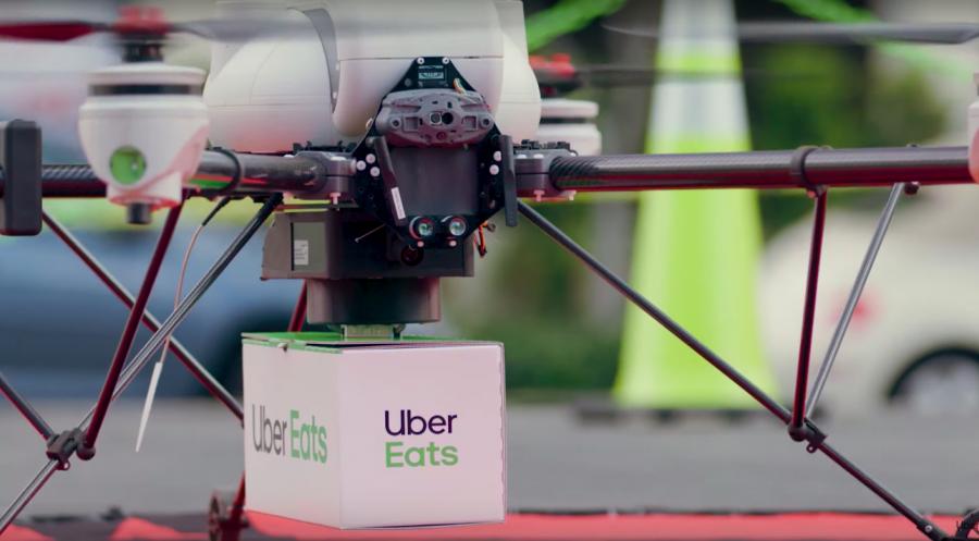 飞来的外卖!Uber将在美国圣地亚哥采用无人机送餐