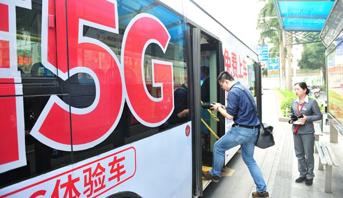 """智慧公交搭乘5G东风 5G公交车发力推进""""车联网"""""""