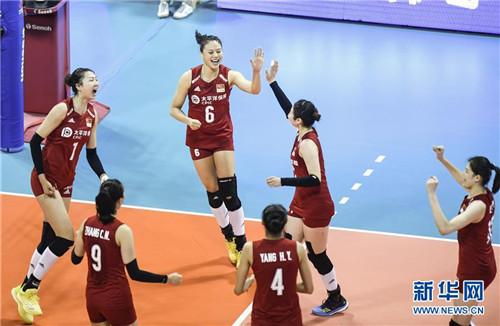 世界女排联赛:中国女排完胜德国收获开门红