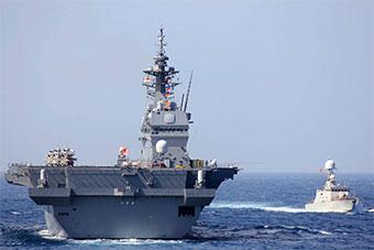 吃饱喝足了:日本准航母离开越南 和越军舰演习