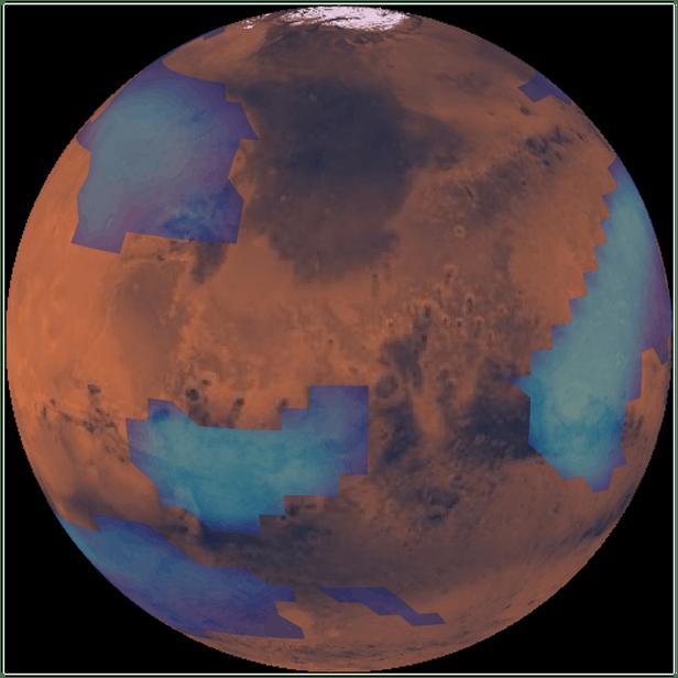 """火星出现神秘云层的原因可能是""""流星烟雾""""现象"""