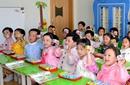 朝鲜领导人和孩子们