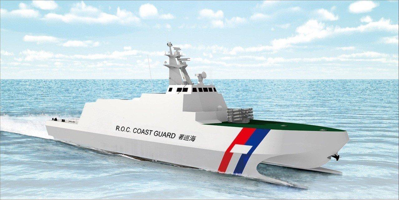 台湾新造海巡船采用双体舰结构 还要装备火箭弹