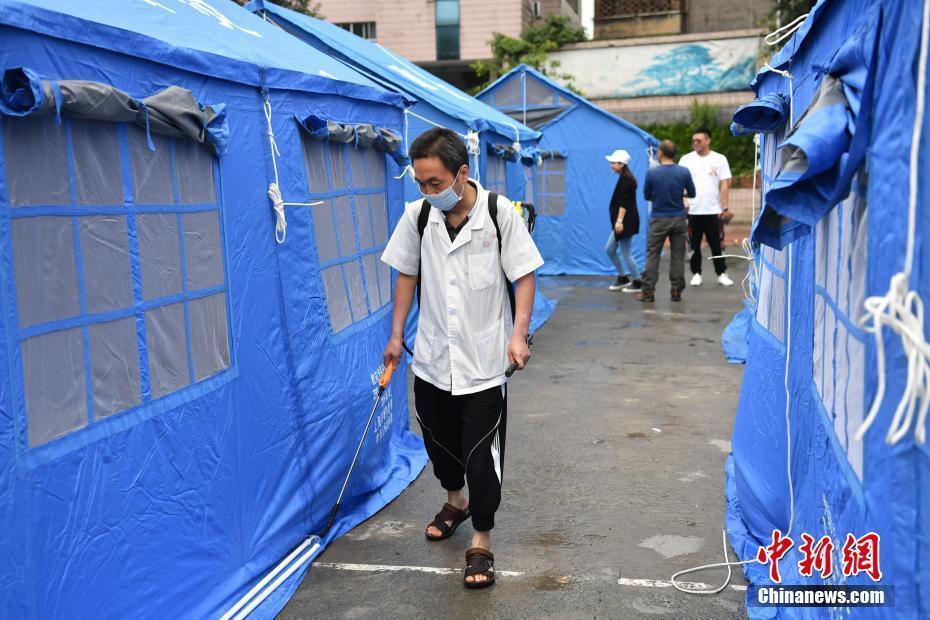 四川长宁地震灾区临时安置点卫生防疫工作展开