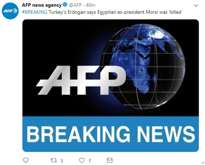 """单方面质疑?埃尔多安:埃及前总统穆尔西系""""被人杀害"""""""