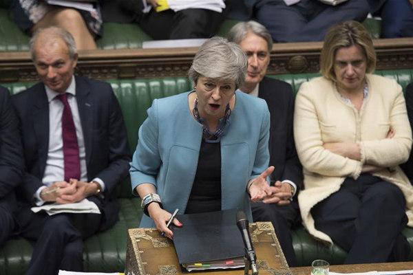 特雷莎·梅出席议会下院首相问答