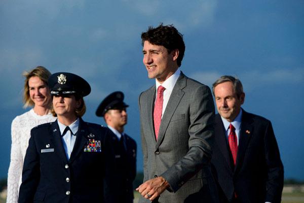 加拿大总理特鲁多飞抵美国 将同特朗普会面