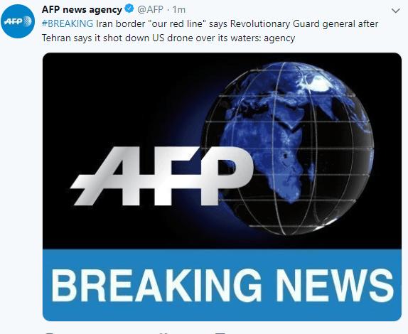 """快讯!伊朗称美国无人机越过边境""""红线"""""""