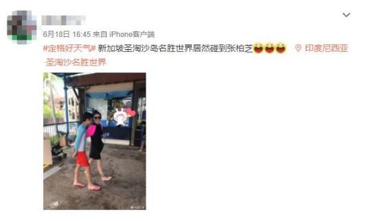 网友新添坡偶遇张柏芝
