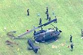日陸自UH1直升機事故機身散架