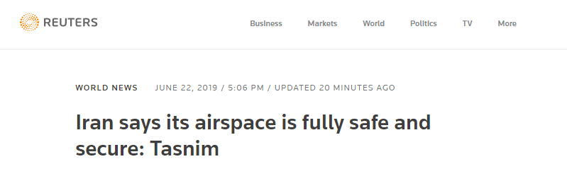 全球多家航司避飞阿曼湾部分空域,伊朗:领空完全安然
