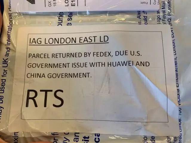 美国科技杂志编辑从英国邮寄华为手机,被联邦快递拒绝送达