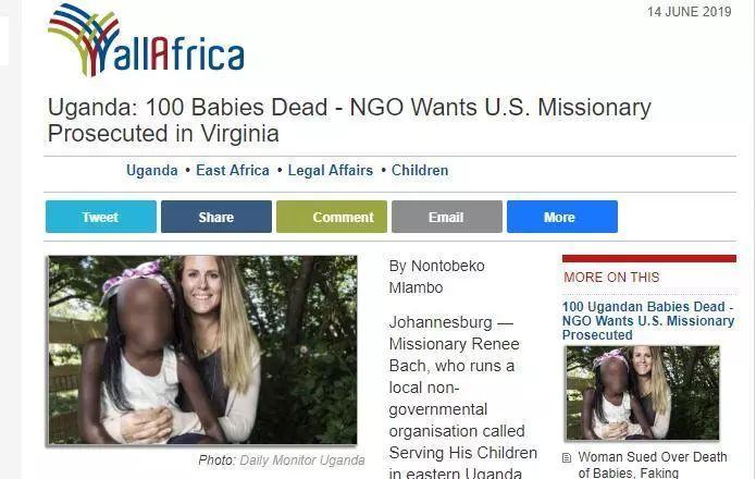 一美国女子被指在非洲干出惊天罪恶,已有上百名儿童逝世亡!