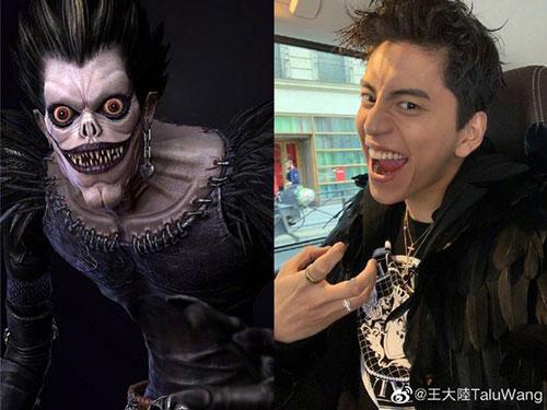 """王大陆晒与""""死神""""对比照 粉丝:道具化妆能省钱"""