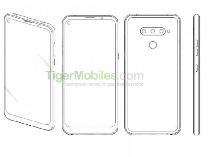 LG获得一项带有打孔前置摄像头的手机专利