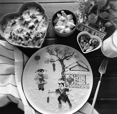 别人家的早餐? 南京一妈妈将早餐做成艺术品