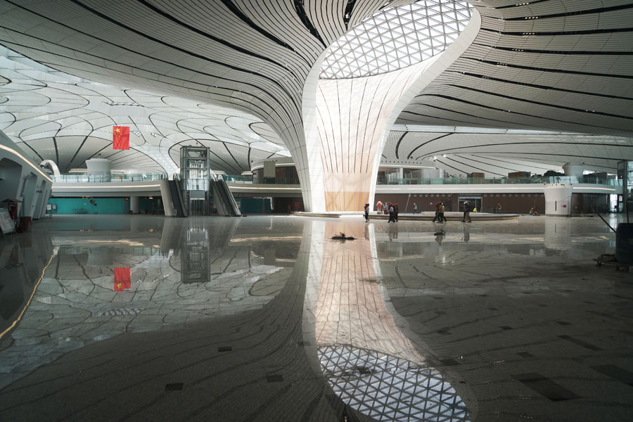 北京大兴新机场验收在即 内部真容曝光!