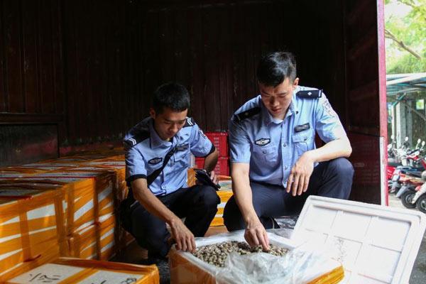 桂粤海关联手破获特大海产品走私案 涉案案值2亿元