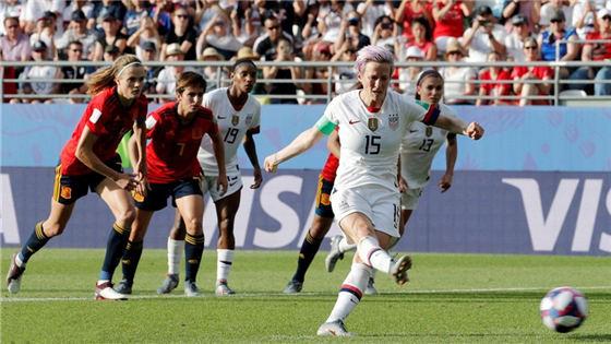 女足世界杯:美国2-1西班牙