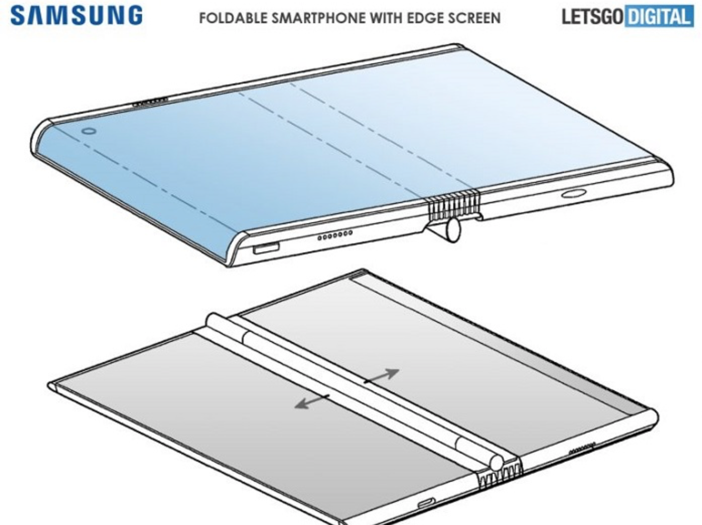 三星折叠屏手机新专利曝光:采用弧形边框设计