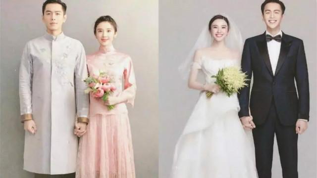 张若昀唐艺昕婚纱照拍摄现场曝光 二人黑白搭配默契十足