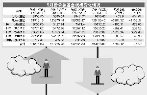 5月偏股基金份额大增 货基缩水超1600亿