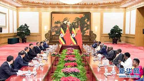 习近平同乌干达总统举办会谈