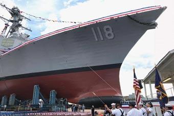 美最新伯克級驅逐艦進行命名儀式 未來部署夏威夷