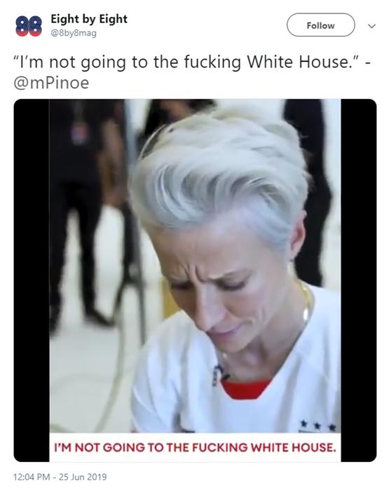 美国女足队副飙脏话说不会去白宫,特朗普回应