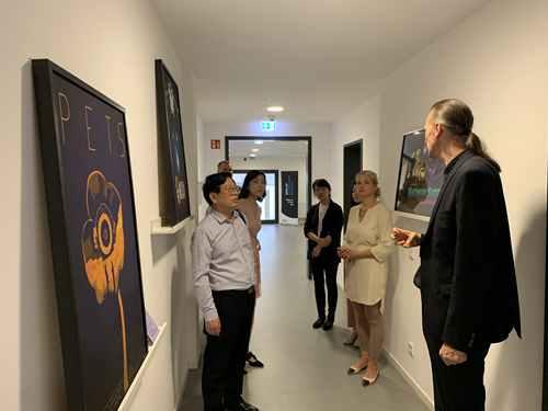 中国湖南师范大学代表团赴德国柏林媒体设计学院进行访问学术交流