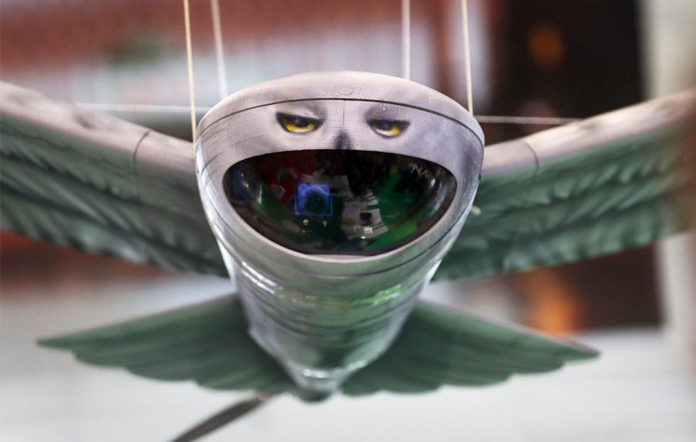 俄罗斯自研仿生无人机曝光 形似猫头鹰顶着大囧脸