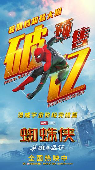 《蜘蛛侠:英雄远征》预售破亿 零点场获好评