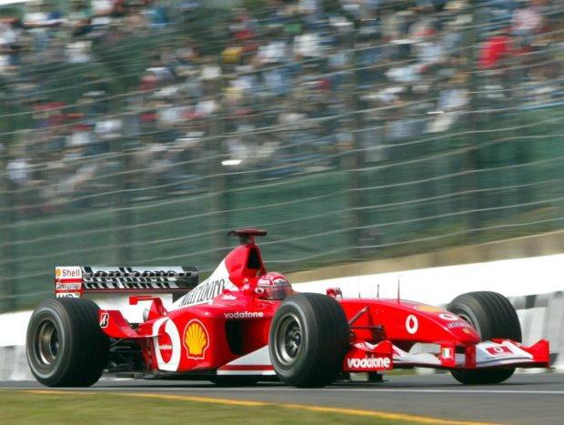 舒马赫2002年夺冠座驾将被拍卖 起拍价600万英镑