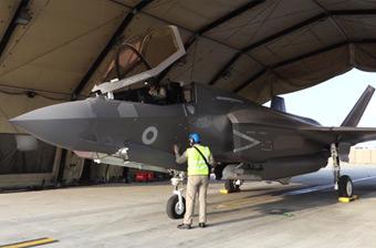 英國F-35戰斗機首次投入實戰 一顆炸彈都沒扔