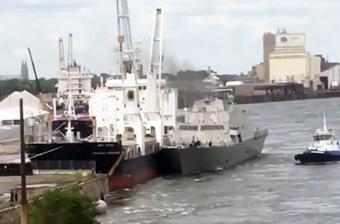 美軍瀕海艦同一個地方兩次出事 這次是撞上貨船