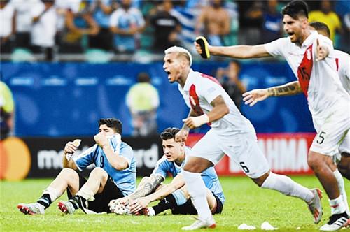 乌拉圭点球不敌秘鲁无缘4强 苏亚雷斯泪别美洲杯