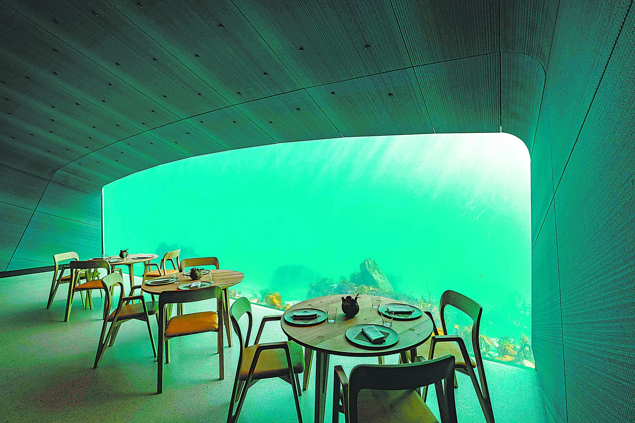 挪威海底餐厅,零距离接触海洋
