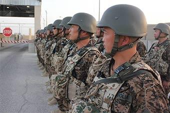 響應美派遣駐扎阿富汗蒙古軍隊亮相 寄居德軍營
