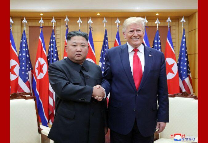 """朝中社:金正恩与特朗普板门店会晤是""""历史性的"""""""