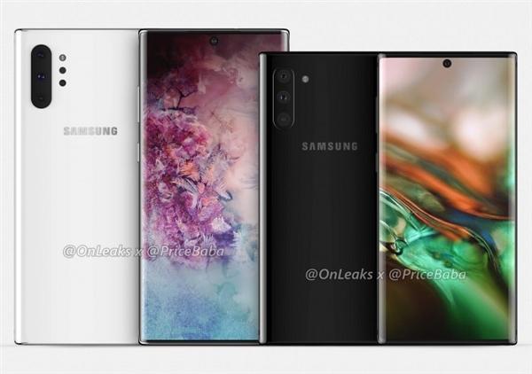 三星Galaxy Note 10细节曝光:屏占比第一
