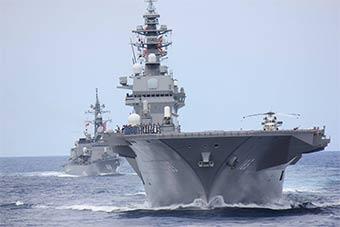 日本菲律賓各派出最大軍艦進行聯合海上演習