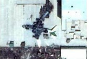 可惜:卫星图展示利比亚唯一安124被摧毁全过程