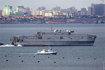 多国军舰云集乌克兰敖德萨港参加美乌主导军演