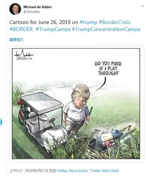 作讽刺特朗普漫画,加拿大漫画家丢了干了17年的工作
