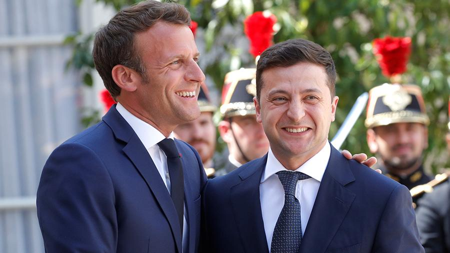 """法国驻乌克兰大使:马克龙与泽连斯基之间产生了""""化学反应"""""""