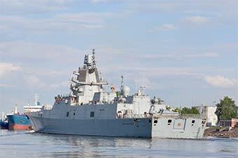 俄最新銳戰艦二號艦結束工廠海試返回港口