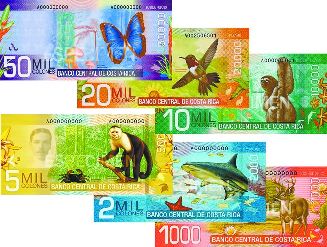 哥斯达黎加动物是纸币明星